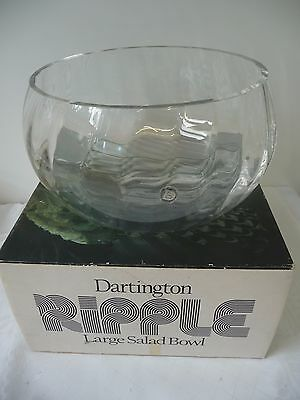 Dartington Glass 24% Lead Crystal Salad Bowl