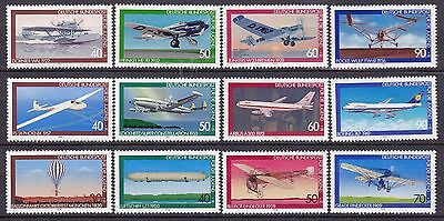 Germany 3 X Sets Aircraft Commemoratives (13A) Mint Never Hinged