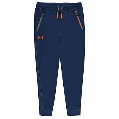 Under Armour Kids Tapered Poly Track Pants Junior Boys Ribbed Warm Print