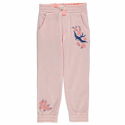 Crafted Kids Embroidery Joggers Girls Jogging Bottoms Sweat Pants Jersey