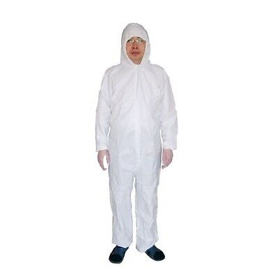 Disposable White Coveralls Dust Spray Suit Siamese Non-woven Dust-proof Cloth WF