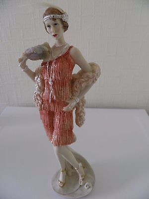 Art Deco Roaring 1920s & Charleston Lady Figurines By Leonardo Collection