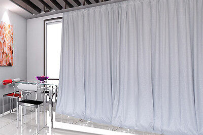 Blockout Curtains 534x230cm PINCH PLEAT 2 panel Blackout High Level Fabric