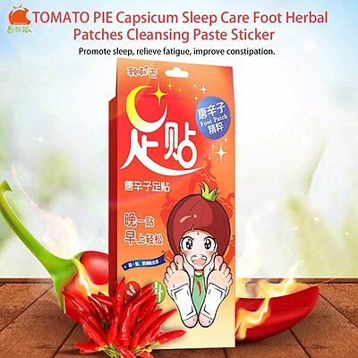 TOMATO PIE Capsicum Sleep Care Foot Herbal Patches Cleansing Paste Sticker XRAU