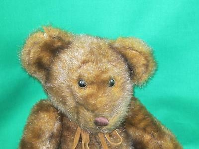 Chocolate Mink Brown First & Main Minky Leather Bow Corduroy Feet Plush Toy Big