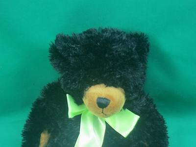 Adorable Midnight Black Brown Grizzly Bear First & Main Saint Jude Scraggles 10""