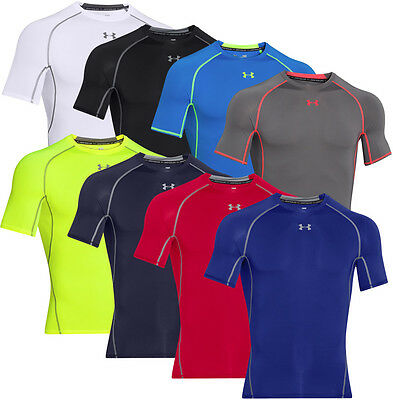 Under Armour Mens HeatGear Armour SS Compression Shirt
