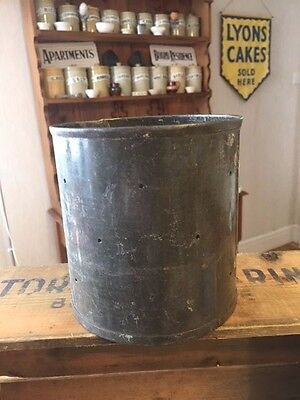 Vintage Tin / Metal Cylinder-Shaped Mould with Holes – Cheese Making? –