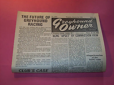 """1986 """" Greyhound Owner """" Selection of newspapers Dog Racing"""
