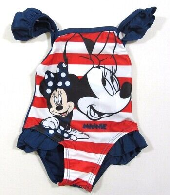 Babies Girls Disney Baby Minnie Mouse Swim Swimming Navy Costume Cozzy 0-24 M