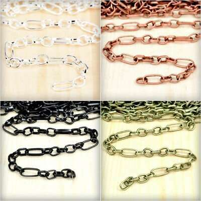 2m 6.56feet Unfinished Textured Curb Chain Bulk Necklace Jewelry Findings DIY HC