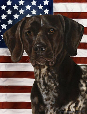 Garden Indoor/Outdoor Patriotic II Flag - German Shorthaired Pointer 320491