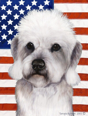 Garden Indoor/Outdoor Patriotic II Flag - Pepper Dandie Dinmont Terrier 322111