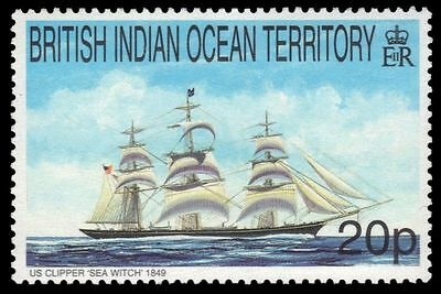 """BR INDIAN OCEAN 209 (SG226) - Sailing Ships """"Sea Witch"""" (pa74151)"""