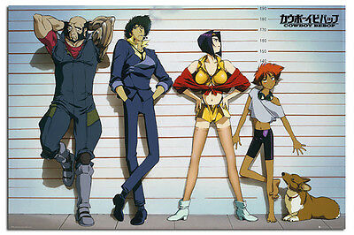 Cowboy Bebop Line Up Anime Poster New - Maxi Size 36 x 24 Inch