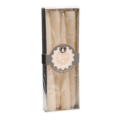 Ivory Taper Candles Ivory 5 Hour Burn Time 8 Inch Candles x 4