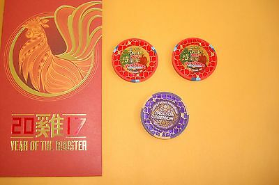 $5 YEAR OF THE ROOSTER CHIP 2017 Palace Station Las Vegas NEW PREMIUM CHIP