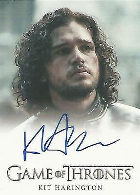 "Game of Thrones Season 4 - Kit Harington ""Jon Snow"" Autograph Card"