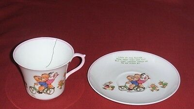 "Shelley ""look At The Fairies~Mabel Lucie Attwell"" Cup & Saucer~ Cup Cracked"