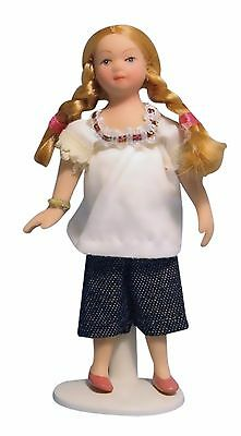 DOLLS HOUSE DOLL1/12th SCALE  MODERN GIRL IN  CREAM TOP