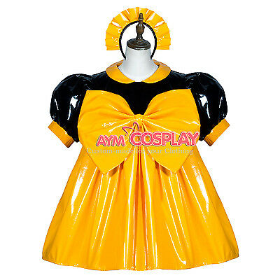 lockable heavier PVC dress big bow Unisex  tailor-made[G3757]
