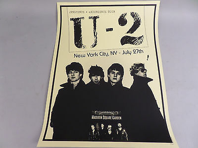 U2  U-2 Poster  INNOCENCE AND EXPERIENCE TOUR 7/27 MSG YELLOW NYC 134/300 Rare