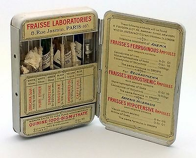 Complete Fraisse Laboratories Emergency Medical Pocket Kit Paris France Vintage