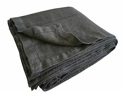 "XXXL Bettüberwurf Plaid ""Rasa"" 100% Leinen ""Stonewashed"" 260x280 cm Graphit"