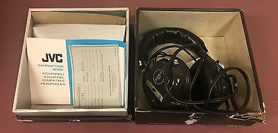 JVC Model 5944 Headphones With Box/Instructions/Warranty Card NO OUTPUT AS IS