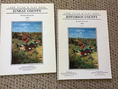 Jefferson and Juneau County Wisconsin  Land Atlas and Plat Books RESEARCH