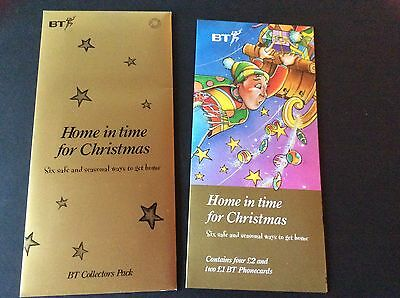 "Rare Bt Phonecard ""home In Time For Christmas"" Collectors Pack Mint 1996"