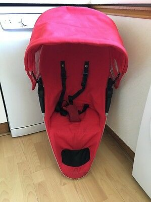Quinny Zapp Xtra Red Seat Unit VGC FREE POSTAGE!!!!
