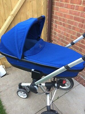 Quinny Foldable Carrycot, Blue Base, With Apron And Mattress, VGC, FREE POSTAGE!