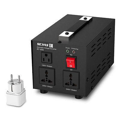 800W Auto Step Up & Down Voltage Transformer Electronic Converter (120V-230V)