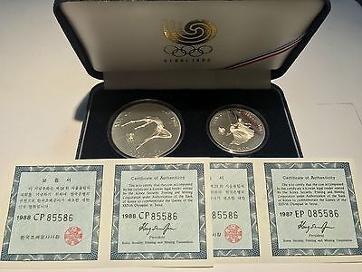 1988 Seoul Olympic Gymnastics And Girls On Swing Mint Condition Coins