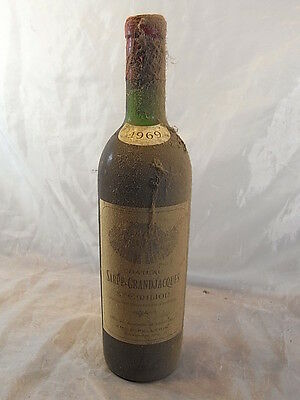 Ancienne Bouteille Vin Rouge Sarpe Grandjacques 1969 Bottle Win Collection