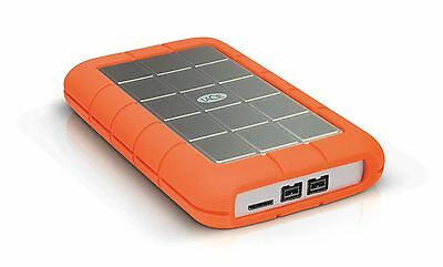 LaCie Rugged Triple USB 3.0 / Firewire 800 1TB Portable Hard Drive LAC301984 New
