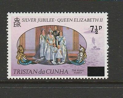 Tristan 1977 Jubilee opts 7 1/2p, straight serif Variety UM/MNH SG 233a