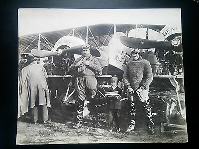 K157. PHOTO 280X230. 1914 ENVIRON. AVIATION. POULET ET BENOIT. Hoffmann. Berlin