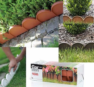 FENCE Lawn Edge Border Palisade Garden Edging Fencing Frost Proof Length 10m