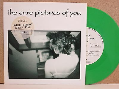 """THE CURE -Pictures Of You- Rare UK GREEN Vinyl 7"""" + Low Number 0036 UNPLAYED"""