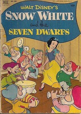 SNOW WHITE AND THE SEVEN DWARFS (1952) Dell Four Color Comics #382 G/VG