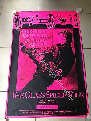"DAVID BOWIE ""Glass Spider Tour"" poster (Edinburgh) 1987 ..  40"" x 60"" .. RARE!"