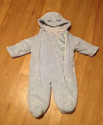 Light Blue Baby Boy All in one Winter Coat Outfit -  3~6 Months