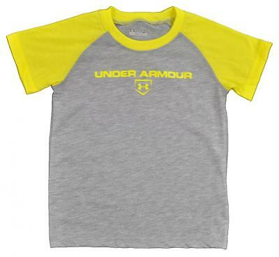 Under Armour Toddler Boys S/S Gray & Yellow Logo Top Size 2T 3T 4T $17.99