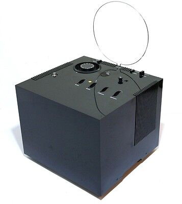 Rare 1969 Tv Brionvega Black Cube St201 Original Carrying Box Vintage Space Age