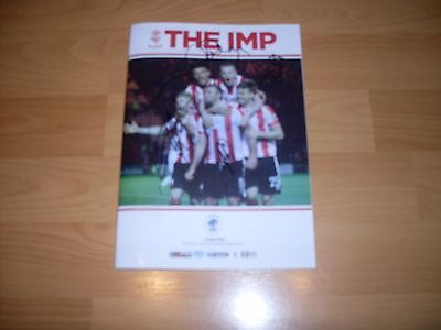 lincoln city v chester signed by 17 lincoln city players 2016/17 season
