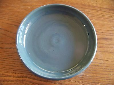 """Bybee Pottery 10"""" Green Pie Plate - Smooth Edges - Excellent Glaze!"""