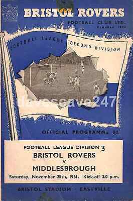 Bristol Rovers v Middlesbrough - Division 2 - 1961/62