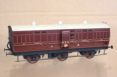Lawrence Scale D&s Models O Gauge Kit Built Gwr 6 Wheel Brake Luggage Coach 89